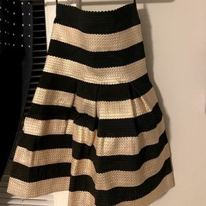 Gold and Black Stripped Dress